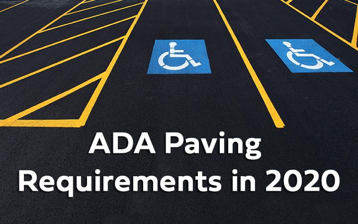 ADA Paving Requirements in 2020 Webinar